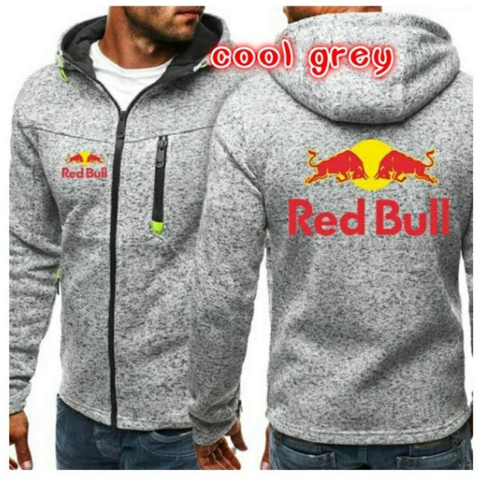 Pullover Hoodies Sweatshirt Cardigan Bull Hip-Hop Fleece Autumn Winter Men's And Red