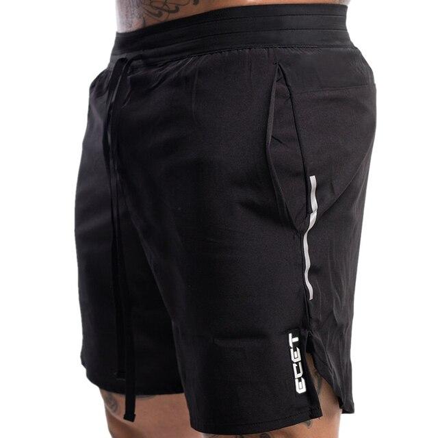Шорты для фитнеса бодибилдинга мужские для тренировок, дышащая быстросохнущая спортивная одежда, Джоггеры для воркаута, пляжные шорты, лето 5