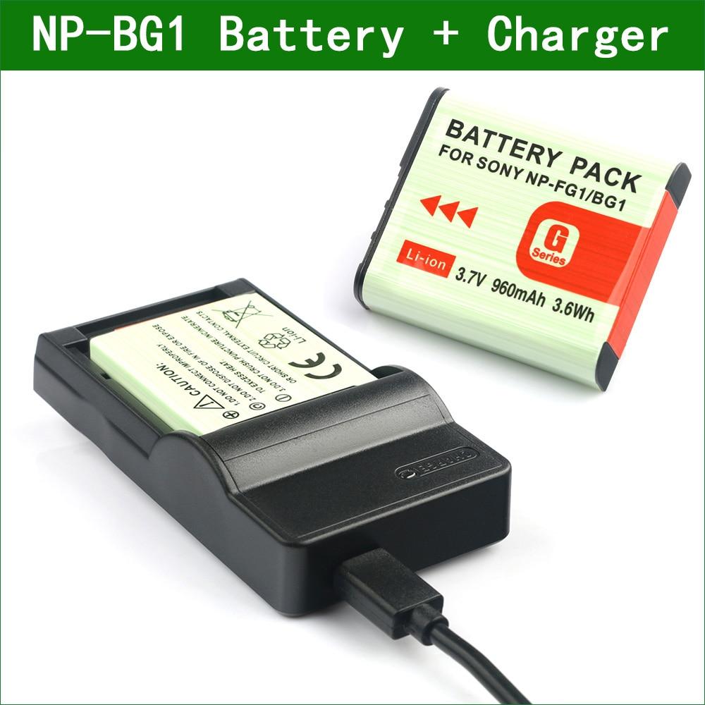 2X Battery /& USB Charger NP-BG1 For Sony CyberShot DSC-HX10V DSC-WX10 DSC-W110