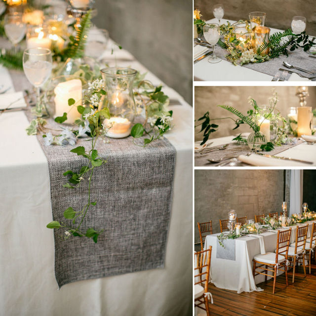 Imitation linen table runners tabl