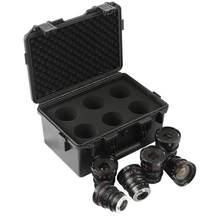 Meike – Kit de lentilles cyines T2.2 (en option: toute distance focale de 3 MFT: 8mm 12mm 16mm 25mm 35mm 50mm 65mm 85mm) avec étui pour lentilles cyines