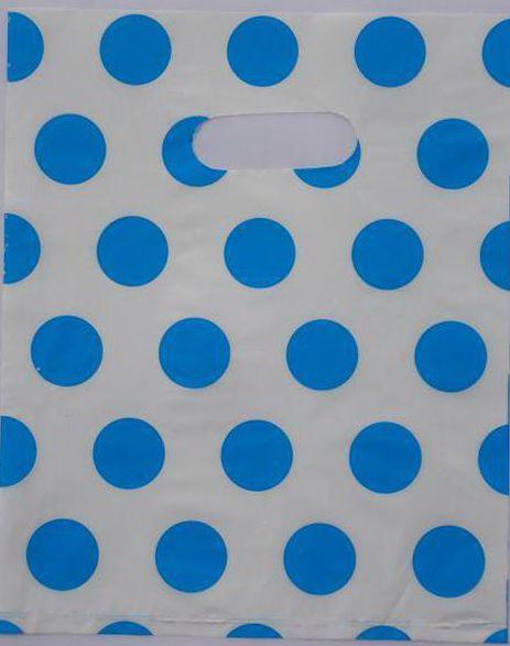 300 pièces sac à provisions en plastique 20*15cm coloré blanc points cadeau sac à main, Recyclable utile vêtements Boutique sac cadeau 015020069