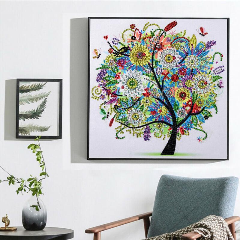 5D DIY Landscape Full Diamond Painting Modern Natural Scenery Muti-Color Tree Embroidery Stitch Art Kits Home Harmonious Decor