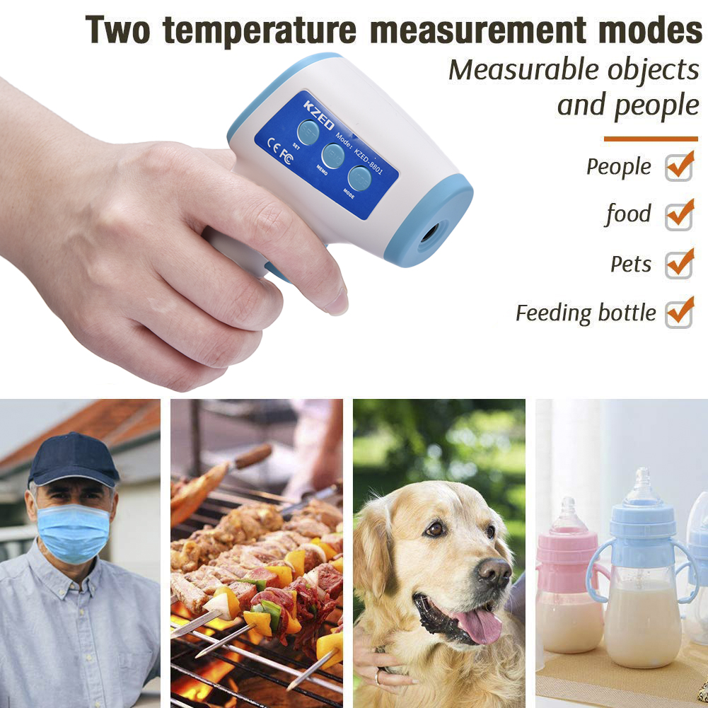 In Stock Digital Thermometer Infrared Baby Adult Forehead Non-contact Infrared Thermometer Dropshipping US EU warehouse shipping