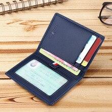Genuine Leather Men's Wallets Thin Card Holder Cowskin Soft Mini Purses