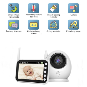 Image 2 - Ainhyzic 4.3'' IPS Screen Video Baby Monitor with Camera,Wireless Cry Baby Alarm Video Monitor Night Vision Security Babysitter