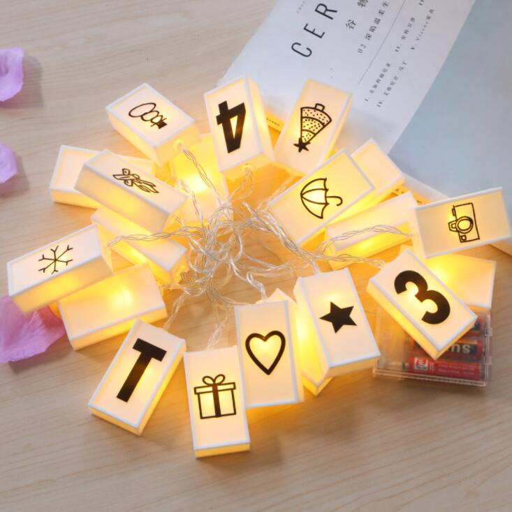 LED Alphabet Light Box Lamp String Christmas Birthday Girl Heart Room Decoration Ins