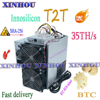 New BTC BCH Miner Innosilicon T2T 35T With PSU Asic Bitcoin miner better than Antminer S9 S17 T17 WhatsMiner M3 M21S M20S T2T T3