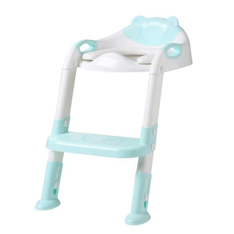 Folding Baby Potty Infant Kids Toilet Training Seat With Adjustable Ladder Portable Urinal Potty Toilet Seat For Kids Blue