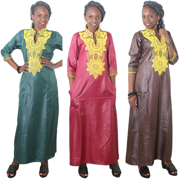MD african dress for women embroidery flower maxi dresses traditional clothes lady party long 2020 summer