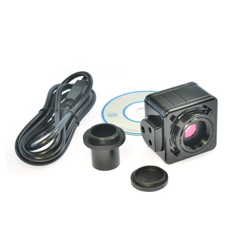 Tüketici Elektroniği'ten 360 ° Video Kamera'de 5MP cmos USB mikroskop kamera dijital elektronik mercek ücretsiz sürücü yüksek çözünürlüklü mikroskop yüksek hızlı endüstriyel kamera title=