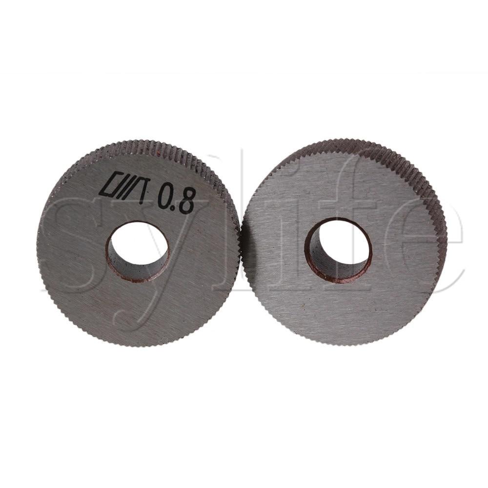 2 pcs 8x28 มม.ตรง Linear Knurl ล้อ Knurling เครื่องมือ 0.8mm PITCH ตะแกรงตั้งหม้อ เครื่องมือ - title=