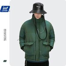 Puffer Jacket Coat Parkas Oversized Warm Thick Winter Cotton Male 2512W Hip-Hop INFALTION