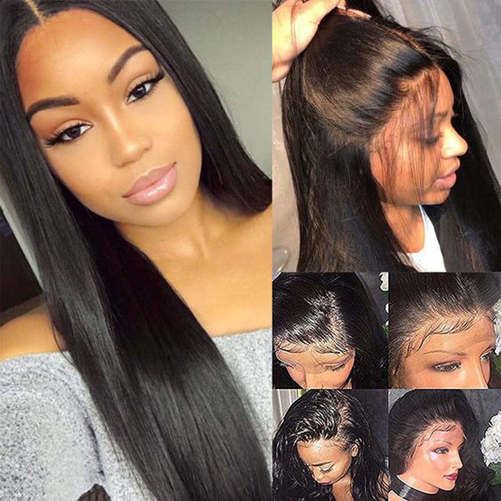 UEENLY 13x4 Lace Front Human Hair Wigs Brazilian Straight Human Hair Wigs 360 Lace Frontal Wig Pre Plucked 4x4 Lace Closure Wigs 4