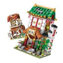 Chegam novas loz diamante bloco mundialmente famoso arquitetura série cidade blocos de construção clássico brinquedos modelo casa presente 1735