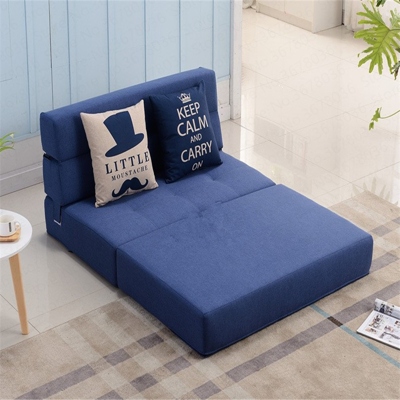 Lazy Folding Sofa Bed Tatami Hard Mattress Single Double Living Room Bedroom Study Small Apartment Space Saving