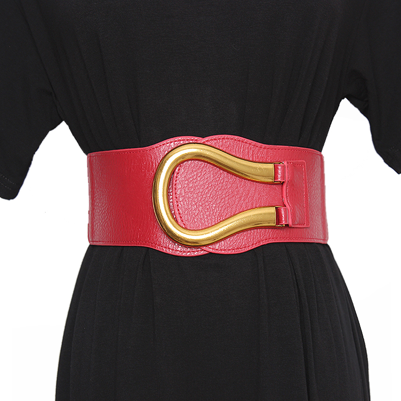 New Fashion Plus Size Belt Wide Big Cummerbunds Corset Belts For Women Dress Elastic Designer High Quality Grosse Ceinture Femme