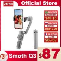 ZHIYUN-cardán oficial SMOOTH Q3 para teléfonos inteligentes, estabilizador de mano de bolsillo de 3 ejes para teléfonos inteligentes, iPhone, Samsung y HUAWEI