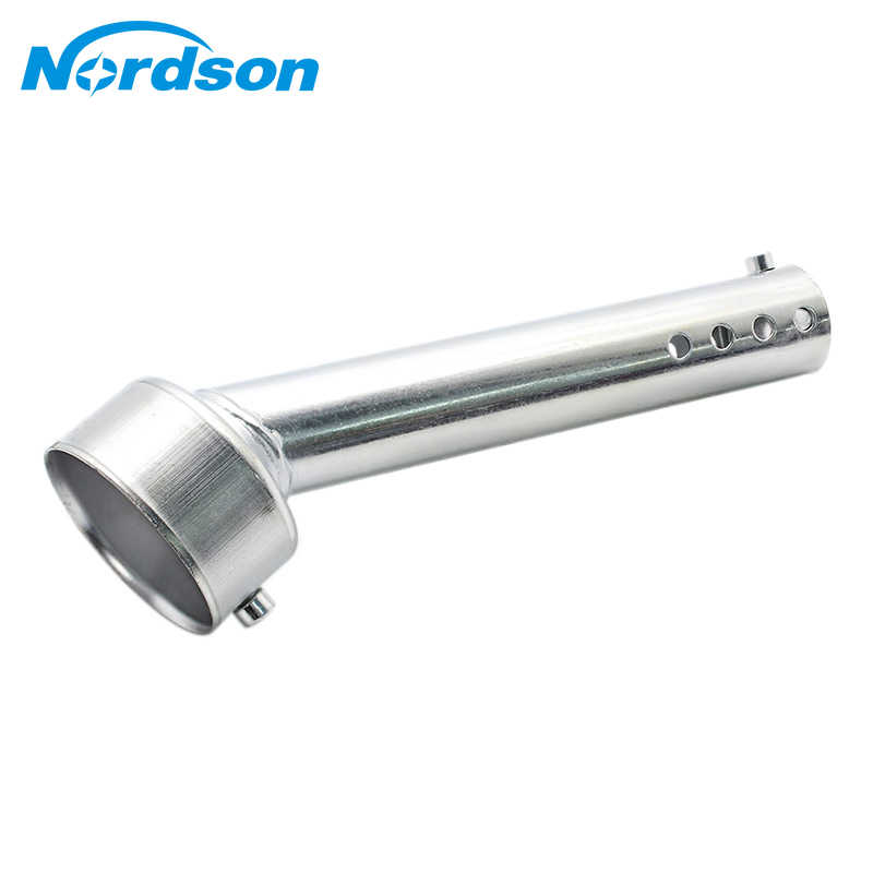 Nordson Motorfiets Uitlaat DB Killer Silencer Baffle Verwijderbare 48mm Universele Chrome MB-TP088