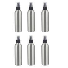 6Pcs Aluminum Pressure Spray Bottle Atomiser 250Ml Cosmetic Portable Jars Pump Container Hairdressing Sprayer Travel