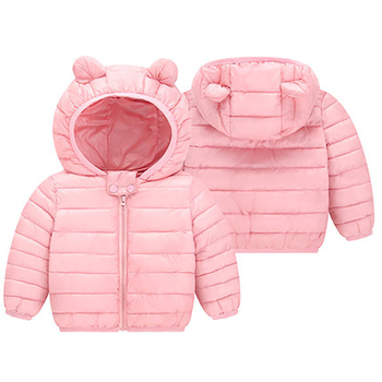 1 2 3 4 Years Baby Boys Girls Clothes Jackets Hooded Zipper Coat Autumn Winter Warm Fashion Outwear Jackets Children's Clothing 2