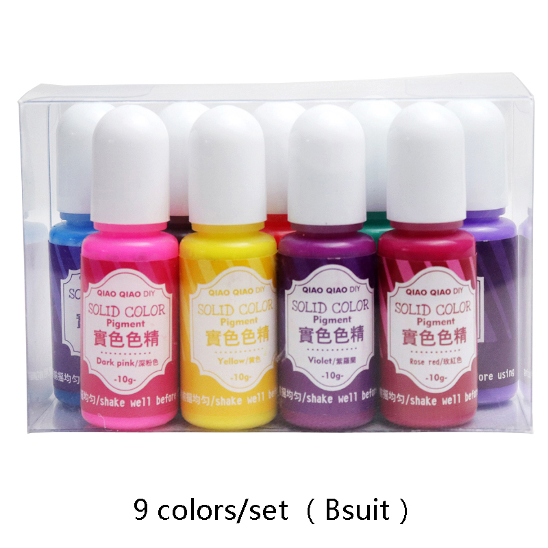 9colors/set DIY Pigment UV Resin Coloring Dye Colorant Resin Pigment Solid Resin Dye Epoxy Resin Handmade Crafts Jewelry Making