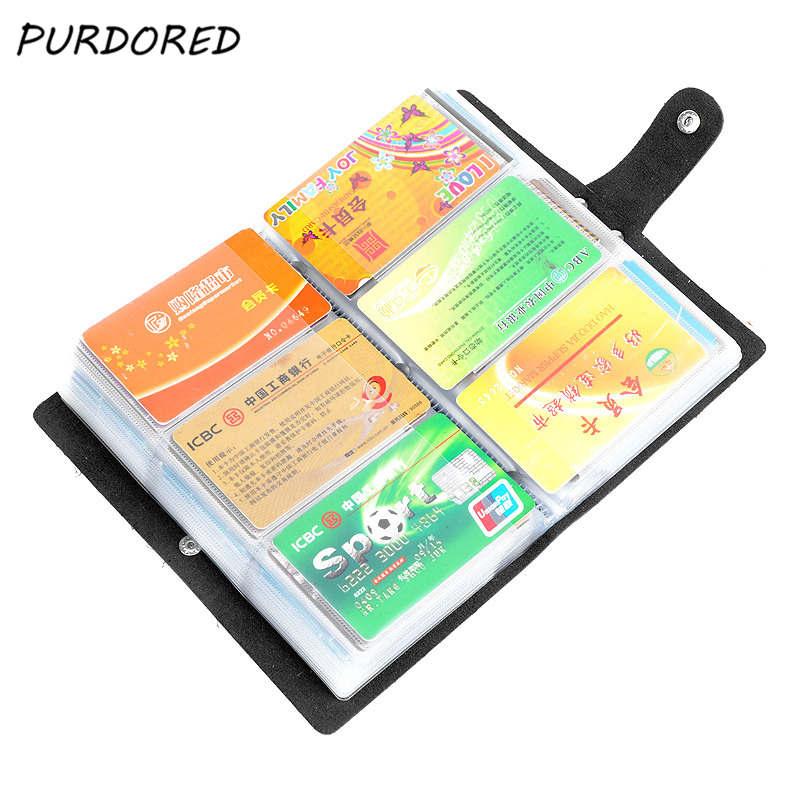 PURDORED 1 шт. 156 битов держатель для кредитных карт из искусственной кожи унисекс для визитных карточек, держатели для мужчин и женщин сумка для ...