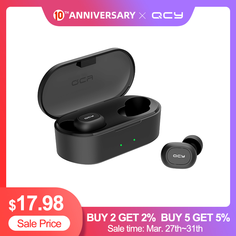 QCY QS2 Bluetooth Headphones V5.0 Eardphones 3D Stereo Sports Wireless Earphones with Dual Microphone|Bluetooth Earphones & Headphones| |  - AliExpress