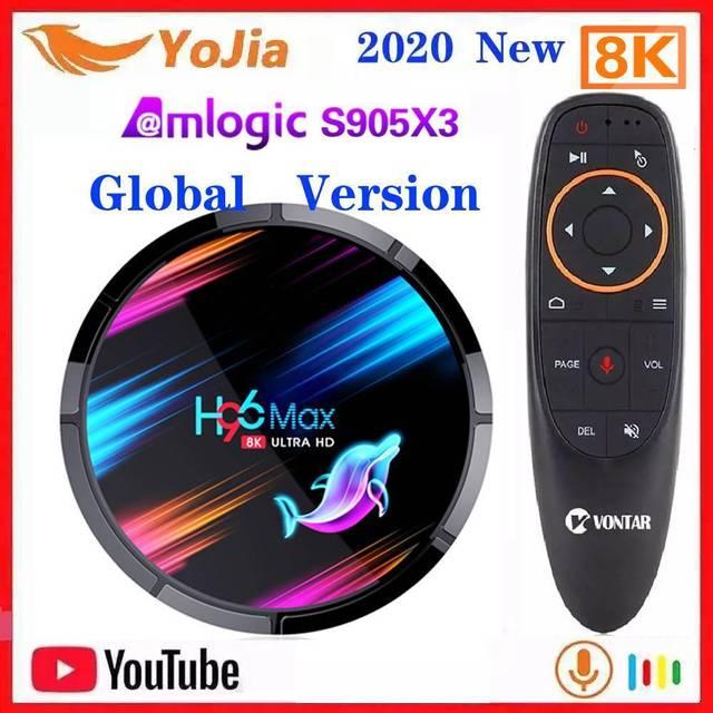 H96 MAX X3 Amlogic S905X3 Smart TV Box Android 9.0 8K Max 4GB RAM 128GB ROM Dual Wifi Media Player Set Top Box YouTube
