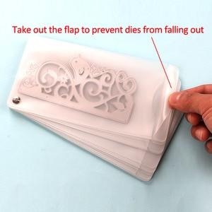 Image 3 - DUOFEN METAL CUTTING DIES HOLDER medium size cutting dies storage plus fabric bag DIY Scrapbook Paper Album 2019 new