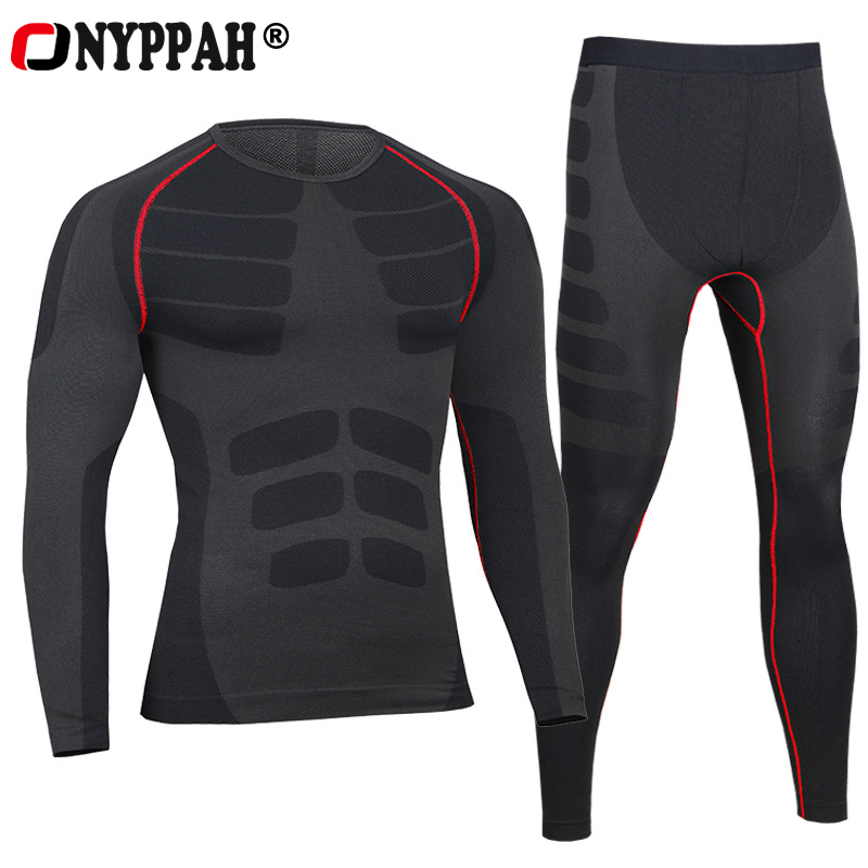 European Compression Pants + Tops Men's Quick Dry Breathable Cool Feeling Mens Long Fitness Underwear Body Shaper