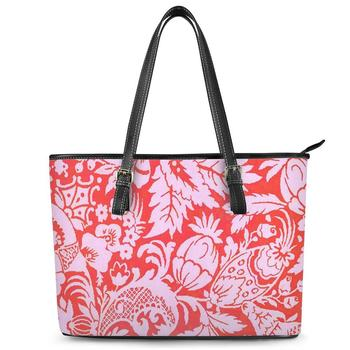 Wholesale Polynesian Tribal style Print custom Handbags For Ladies Luxury Vintage Designers Hand bags Women tote shoulder bag