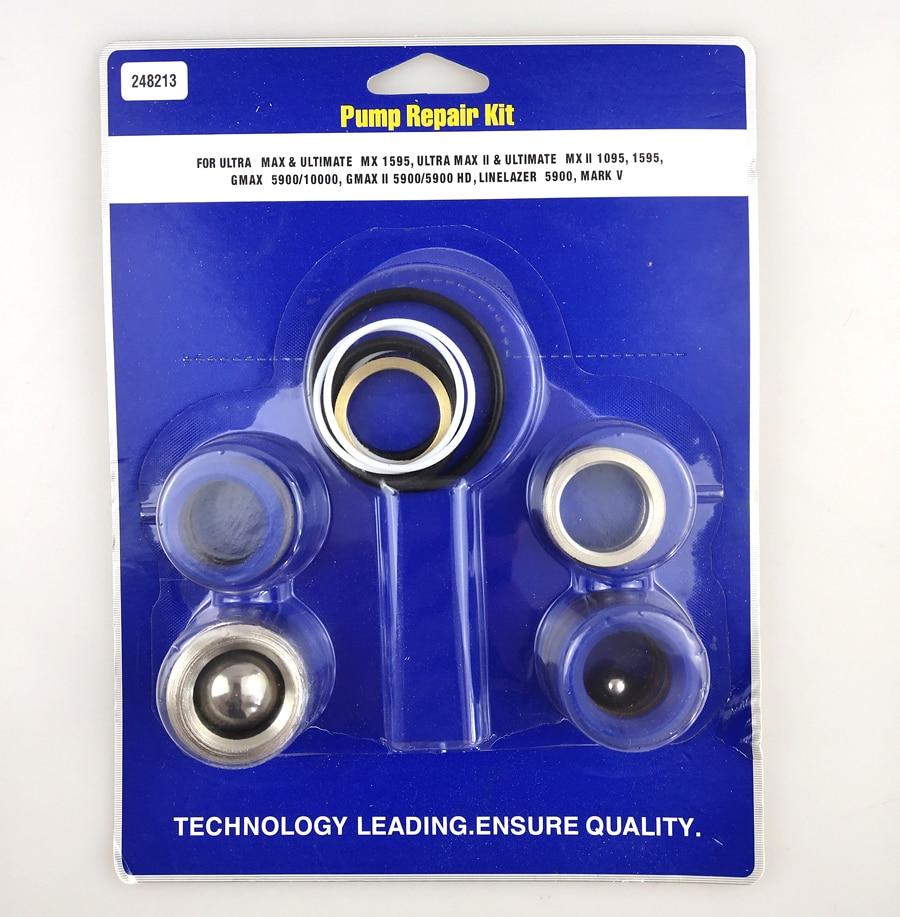 Aftermarket Pump Repair Packing Kit 248213 For Paint Spay Gun 1095 1595 5900