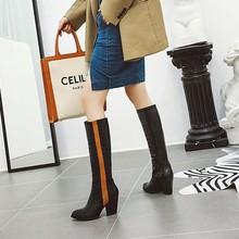 Сапоги; женские зимние сапоги; женская обувь; botas; яркие флуоресцентные сапоги до колена; большие размеры 9, 10, 11, 12