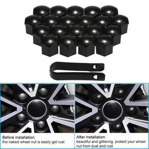 Image 5 - Roda porca tampa para tesla modelo 3 roda porca cobre lug tampa da roda lug porca capa kit extrator 21 pçs duas cores estilo do carro