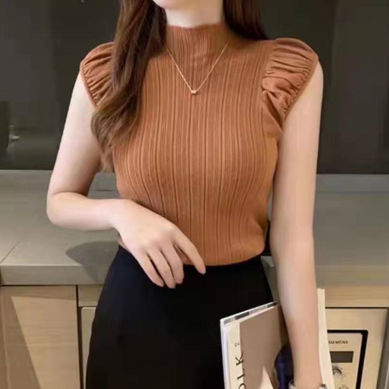 HELIAR Tank Tops 2020 Summer Women Knitted Turtleneck Tank Tops Ladies Sexy Slim Tops Female Night Club Sexy Vest For Women