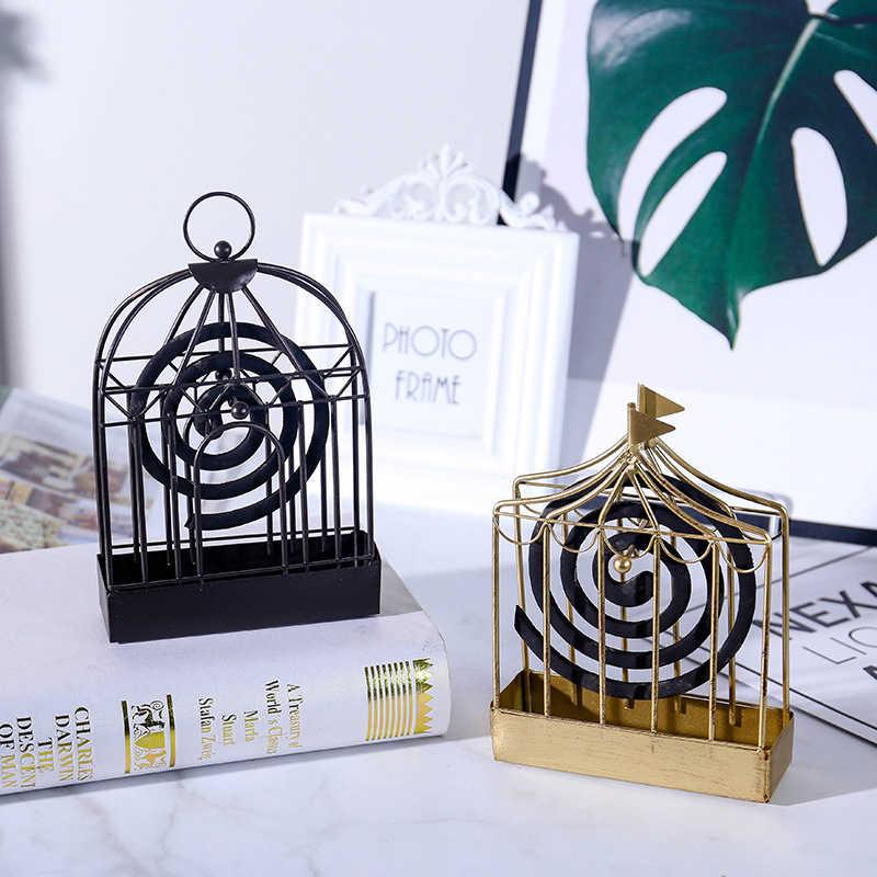 Москитная спираль для дома золото кованого железа Москитная рептилия Европейский Креативный полый Универсальный спальня гостиная клетка для птиц лето