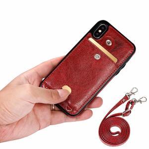 Кожаный чехол для мобильного телефона, наплечный карман, кошелек, чехол, шейный ремешок для iPhone X XS Max XR 11 Pro Max 6 6S 7 8 Plus