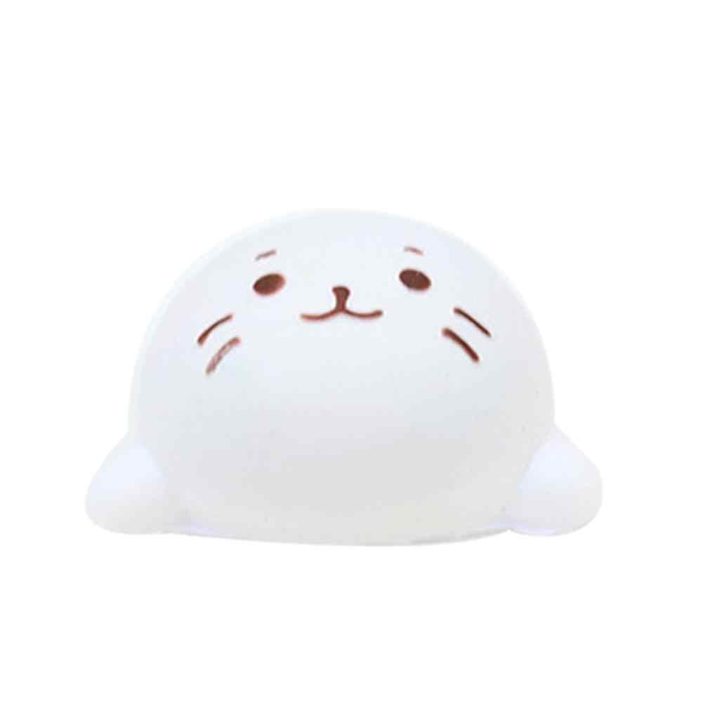 Linda expresión Color Pu simulación cabeza de gato lento rebote de juguete gato cabeza expresión pan teléfono móvil cuerda colgante