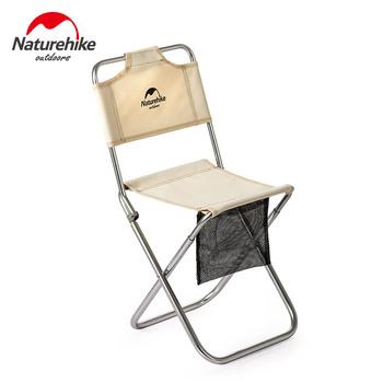 Naturehike Mini krzesło przenośne ultralekkie małe Campstool krzesło kempingowe wędkowanie piknik na plaży grill stop Alluminum składany stołek tanie i dobre opinie