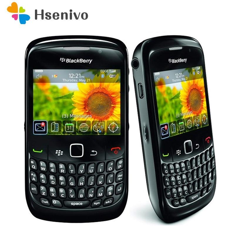 100% Original BlackBerry 8520 Curve Mobile Phone Smartphone Unlocked 3G WIFI Bluetooth 8520 Cellphone  Free Shipping