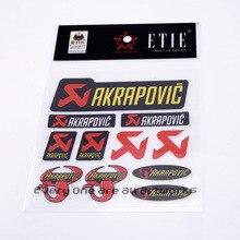 10XPVC Akrapovicราศีพิจิกรถสติกเกอร์บุคลิกภาพดัดแปลงรถสติ๊กเกอร์Decals