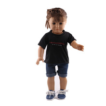 2018 New T-shirts and Jeans New Born Baby Doll Clothes for 18