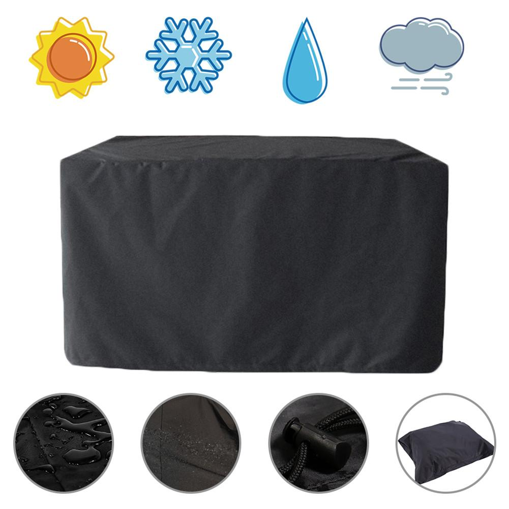 Black All-Purpose Waterproof Dust Cover Durable Garden Furniture Cover Rain Cover For Outdoor Garden Barbeque Grill Protect