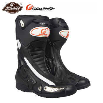 Riding Tribe Motorcycle Boots Men Motorcycle Shoes Botas Moto Motocross Boots Motorbike Biker off-Road Racing Riding Boots