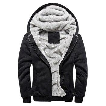 2020 New Men Hoodies Winter Warm Zipper Men Hoodies  5