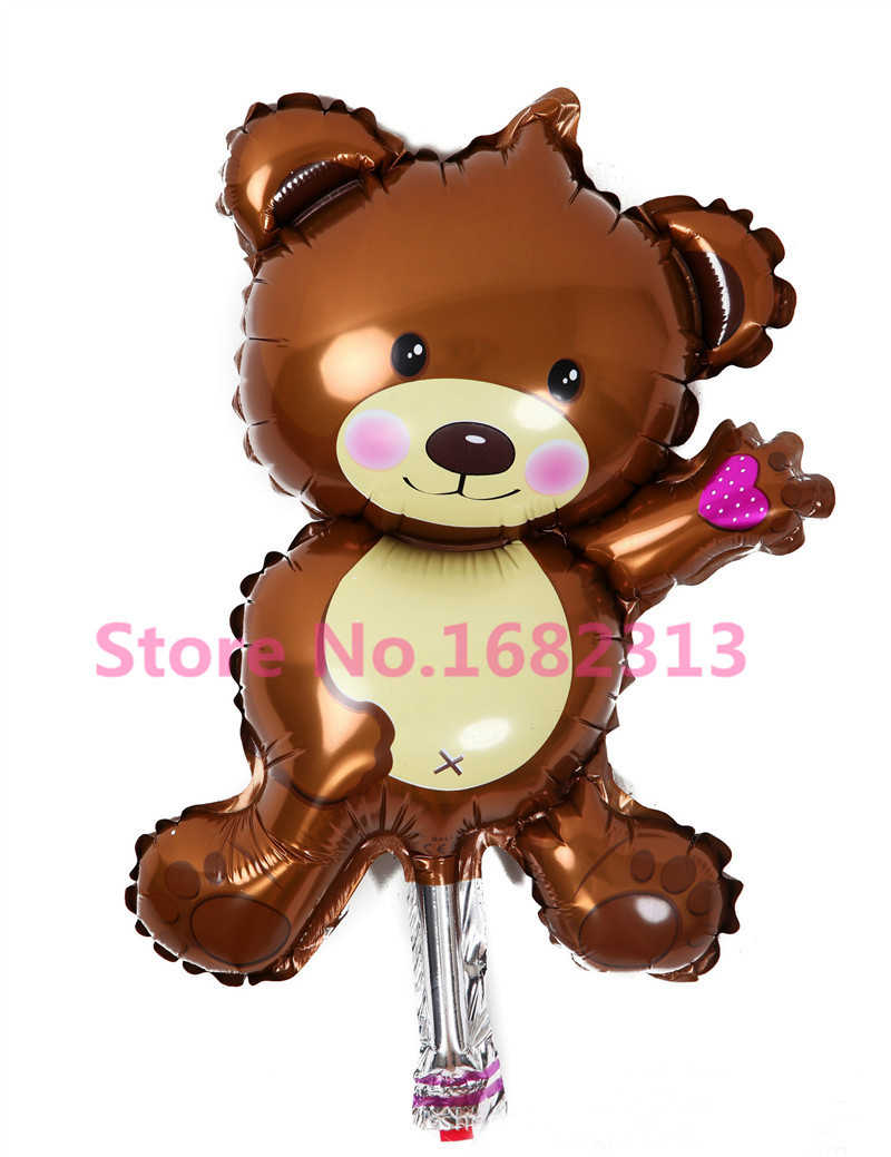 Mini Bear Blue 16 Inch Mini Cartoon Animal Bear Childrens Toys Decoration Foil Balloons Birthday/&Party Balloons Cute Helium Balloon