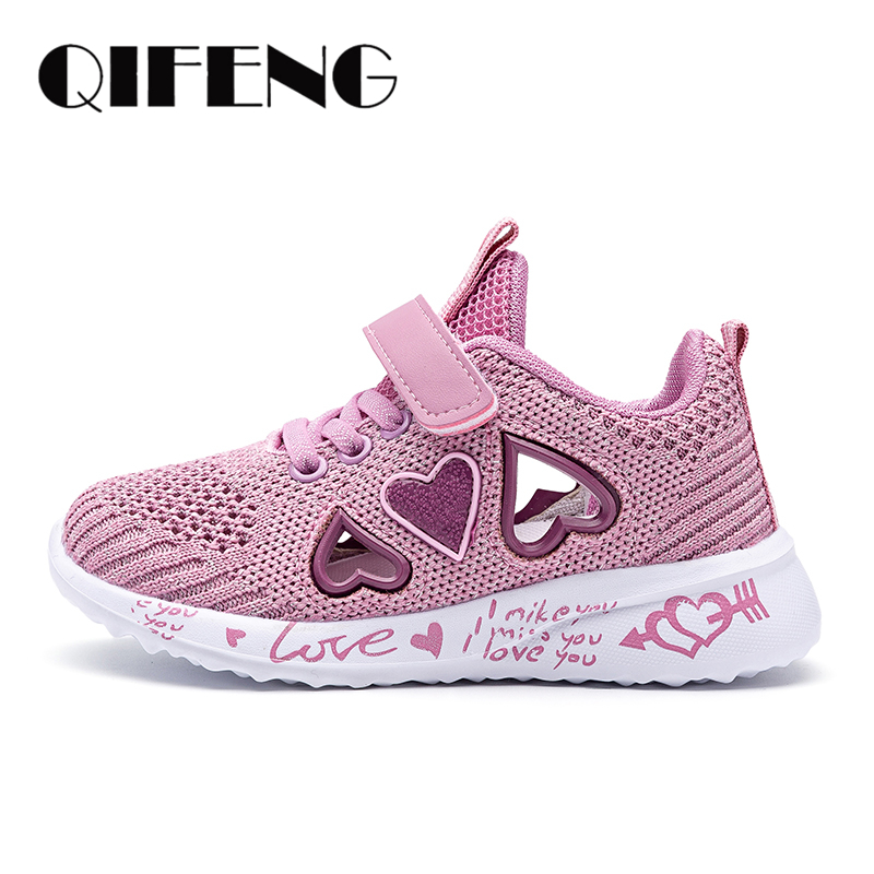 Children Mesh Casual Shoes Girl Sneakers Kids summer Sport Footwear Kids Shoes for Girl Light Shoes Cute Pink Flat Shoes autumn 4