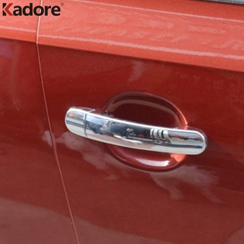 For Volkswagen POLO 2008 2009 2010 2011 2012 2013 ABS Chrome Door Handle Catch Cover Trim Sticker Car Styling Accessories image