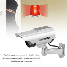 Rain-Proof Home Office Monitor Security Guard Simulation Surveillance Camera Outdoor Indoor Solar Energy Dummy IR Camera simulation camera simulation monitor high simulation with sensor false monitor